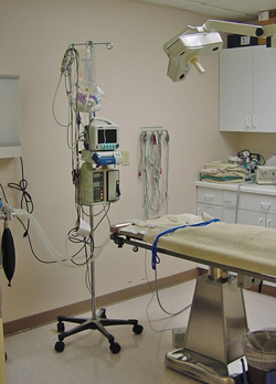 We have 2 large fully equipped surgical suites